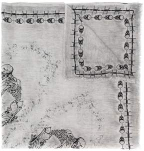 Faliero Sarti skull print scarf