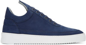 Filling Pieces Blue Ripple Sneakers