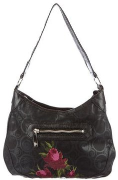 Kenzo Leather-Trimmed Printed Hobo