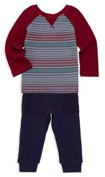 Splendid Baby Boy's Two-Piece Striped Top and Jogger Pants Set