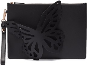 Sophia Webster 'Flossy' butterfly appliqué leather pouch