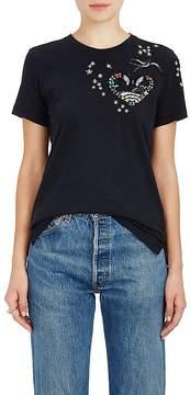 Valentino Women's Tattoo-Embellished Cotton Jersey T-Shirt