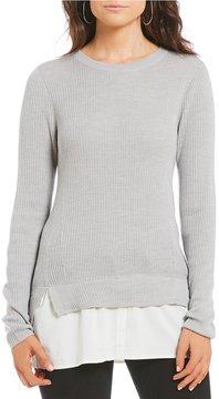 Daniel Cremieux Chloe Shirttail Hem Sweater