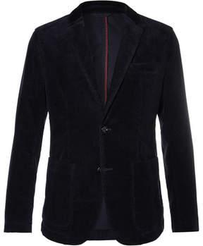 HUGO BOSS Navy Slim-Fit Stretch-Cotton Corduroy Blazer