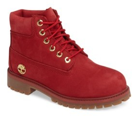 Timberland Boy's 40Th Anniversary Ruby Red Waterproof Boot