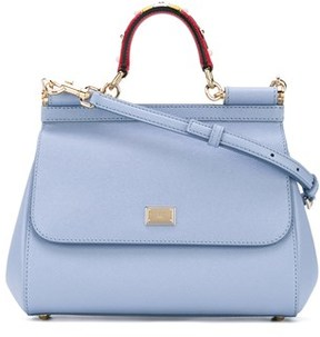 Dolce & Gabbana Dolce E Gabbana Women's Light Blue Leather Handbag. - BLUE - STYLE