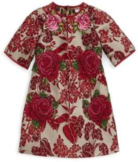 Dolce & Gabbana Toddler's, Little Girl's& Girl's Rose Embroidery Dress