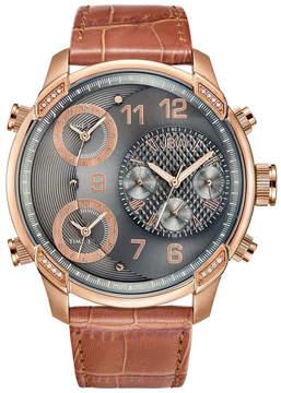 JBW G4 Grey Dial Three Time Zone Diamond Men's Watch
