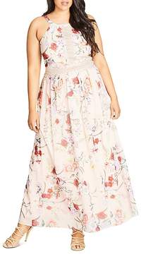 City Chic Floral Halter Maxi Dress