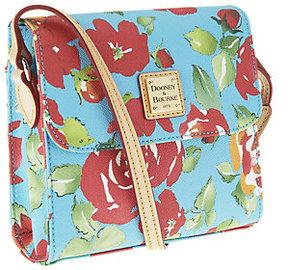 Dooney & Bourke As Is Coated Cotton Rose Garden Letter Carrier - ONE COLOR - STYLE