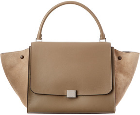 Celine Trapeze Large Leather Shoulder Bag