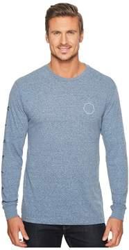 VISSLA Swellbow Long Sleeve Snow Heather T-Shirt Men's T Shirt