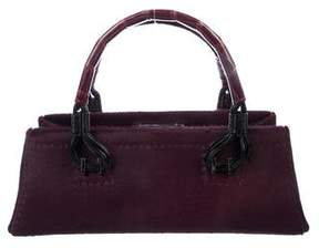 VBH Crocodile-Trimmed Ponyhair Bag