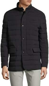 Allegri Men's Techno Flannel Puffer Coat