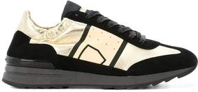 Philippe Model metallic panels lace-up sneakers