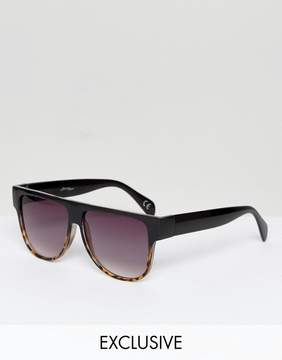 Jeepers Peepers Flat Top Visor Sunglasses with Gradient Lens