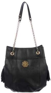 Eric Javits Leather Bucket Bag