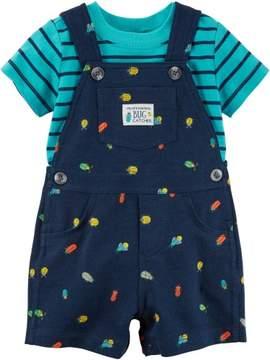 Carter's Baby Boys Bug Crawl Shortalls Set