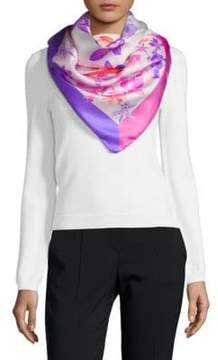 Saks Fifth Avenue Silk Lily Neck Scarf