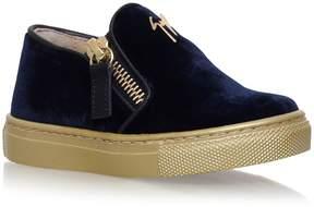 Giuseppe Zanotti Velvet Gary Junior Slip-On Sneakers