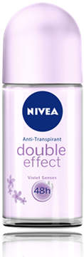 Nivea Double Effect Deodorant Roll On by Nivea (1.75oz Roll On)