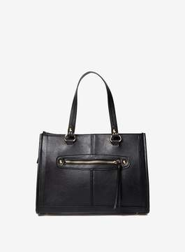 Dorothy Perkins Black Mini Zip Front Tote Bag