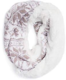 Muk Luks Women's Snowflake Eternity Scarf