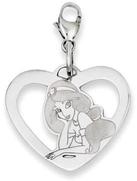 Disney Sterling Silver Jasmine Heart Lobster Clasp Charm