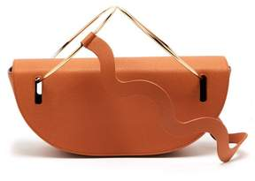 Roksanda Elba Wave Strap Grained Leather Shoulder Bag - Womens - Tan