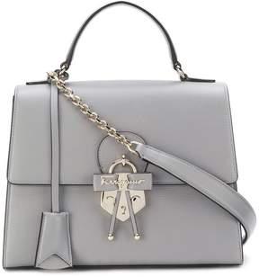 Salvatore Ferragamo Gancio embellished top handle bag