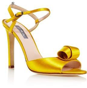 Sarah Jessica Parker Women's Ferry Satin Ankle Strap Sandals - 100% Exclusive