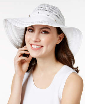 INC International Concepts Metallic Beaded Floppy Hat, Created for Macy's