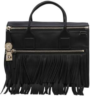Versace Fringed Leather Top Handle Bag