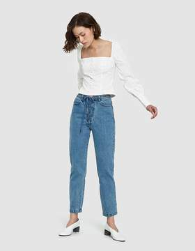 Which We Want Hana Lace Jeans in Denim