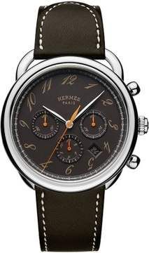 Hermes Arceau Black Dial Automatic Men's Chronograph Watch
