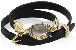 Alexis Bittar Elements Golden Array Adjustable Wrap Bracelet/Choker