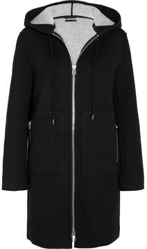 ATM Anthony Thomas Melillo Hooded Neoprene-jersey Coat - Black