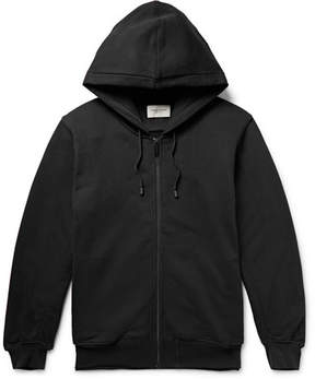 Public School Printed Fleece-Back Cotton-Jersey Zip-Up Hoodie