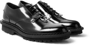 Neil Barrett Embellished Polished-Leather Derby Shoes
