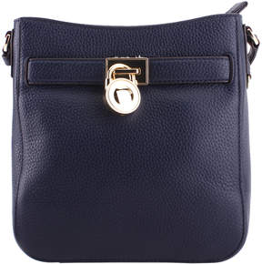 Michael Kors Navy Blue Hamilton Leather Traveler Crossbody Bag - NAVY - STYLE