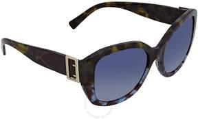Burberry Blue Gradient Ladies Sunglasses