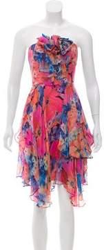 ABS by Allen Schwartz Floral Silk Dress w/ Tags