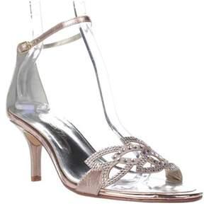 Caparros Cabaret Ankle Strap Evening Sandals, Gold Metalic.