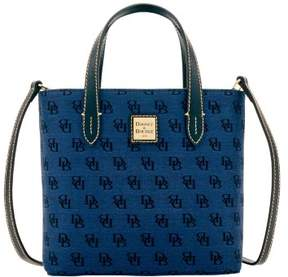 Dooney & Bourke Madison Signature Mini Waverly Top Handle Bag - NAVY - STYLE