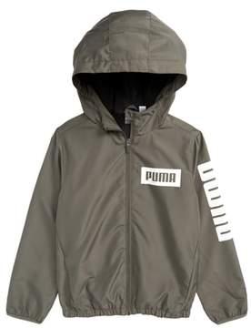 Puma Rebel Full Zip Hooded Windbreaker Jacket