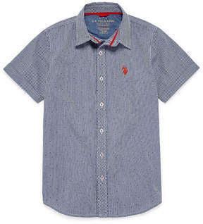 U.S. Polo Assn. USPA Short Sleeve Button-Front Shirt Boys