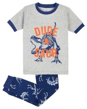 Petit Lem Boy's Two-Piece Dinosaur Pajama Set