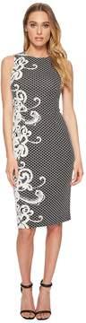 Adrianna Papell Scroll Border Knit Sheath Women's Dress