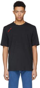 Helmut Lang Black Logo Cut Neck T-Shirt