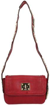 RED Valentino Burgundy Leather Snake Shoulder Bag